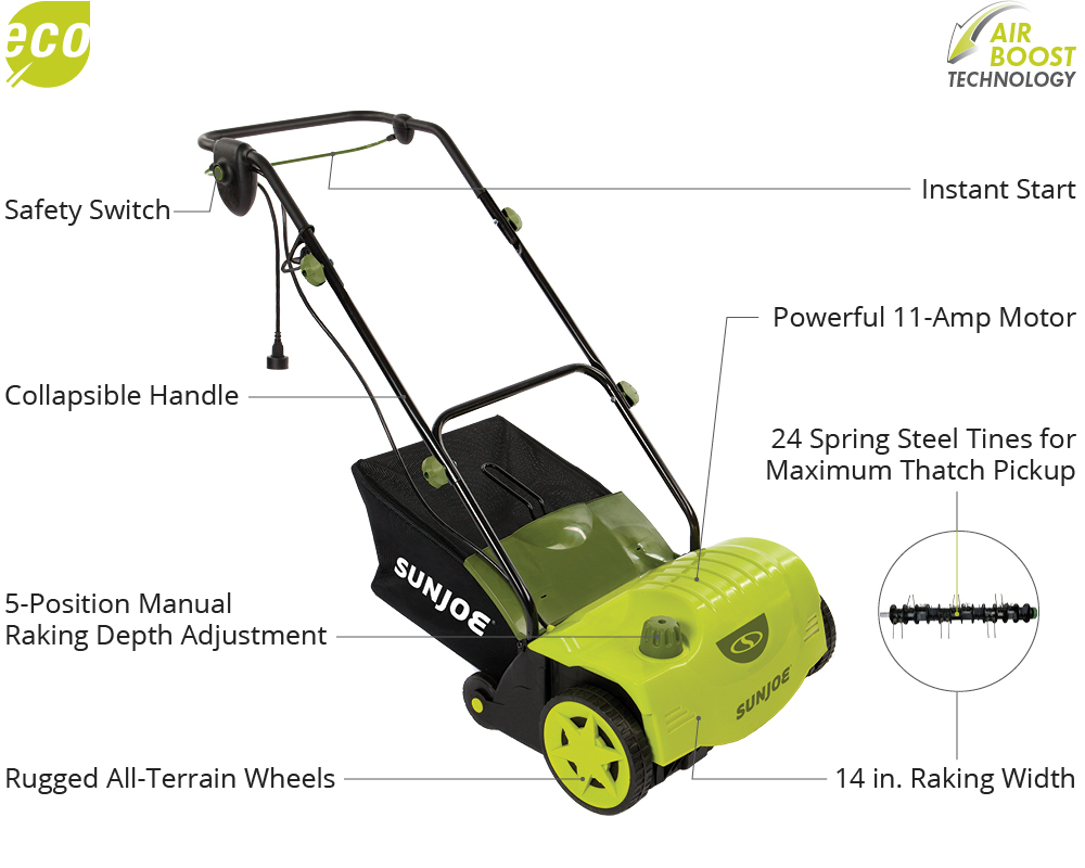 sun joe electric lawn mower manual